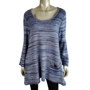 JM Collection Womens Metallic Sweater Plus Size 1X